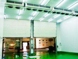 Cámara con evaporadores plafón